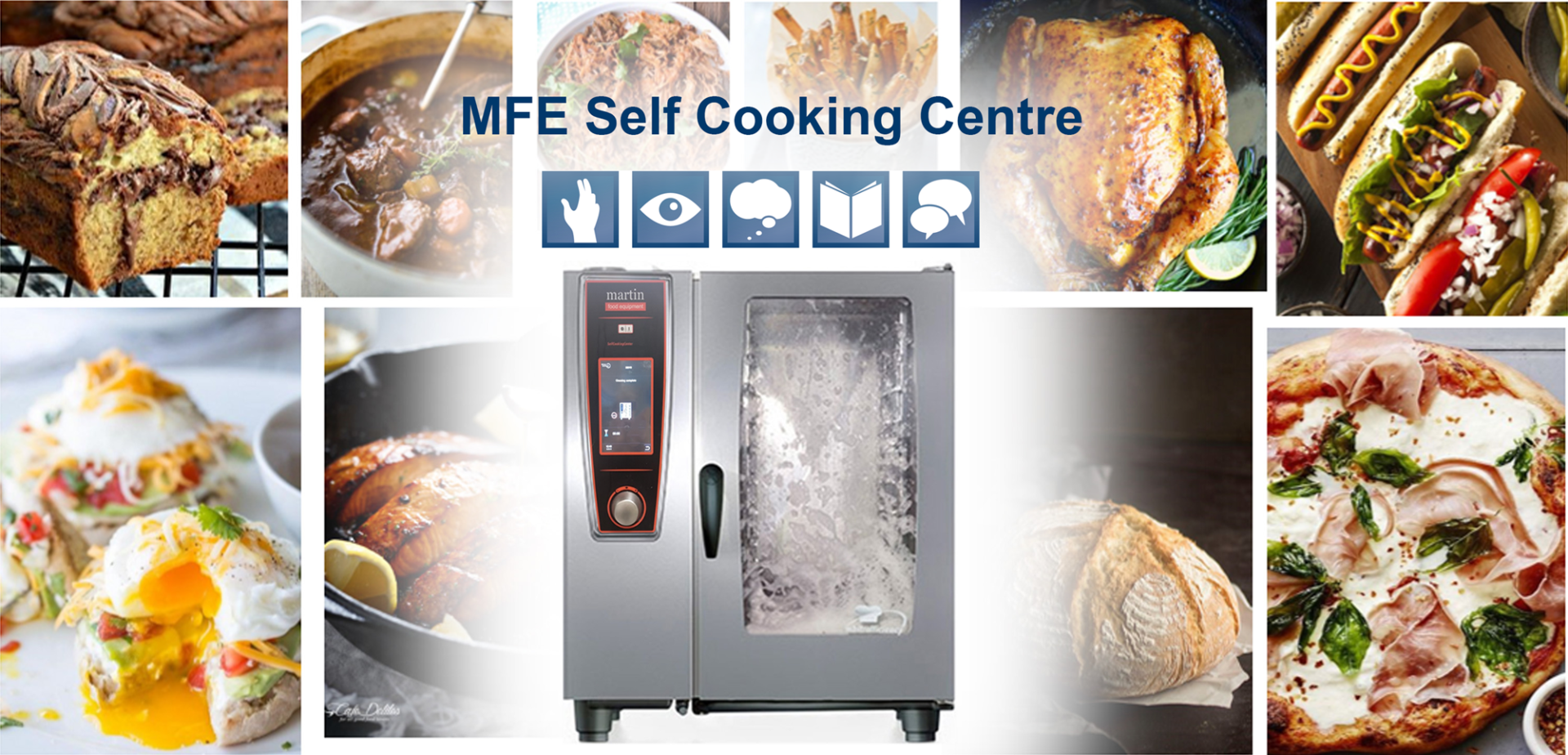 Martin Food Equipment MFE-SCC-Collage MFE SELF COOKING CENTRE - powered by Rational -  Live Demonstration Events