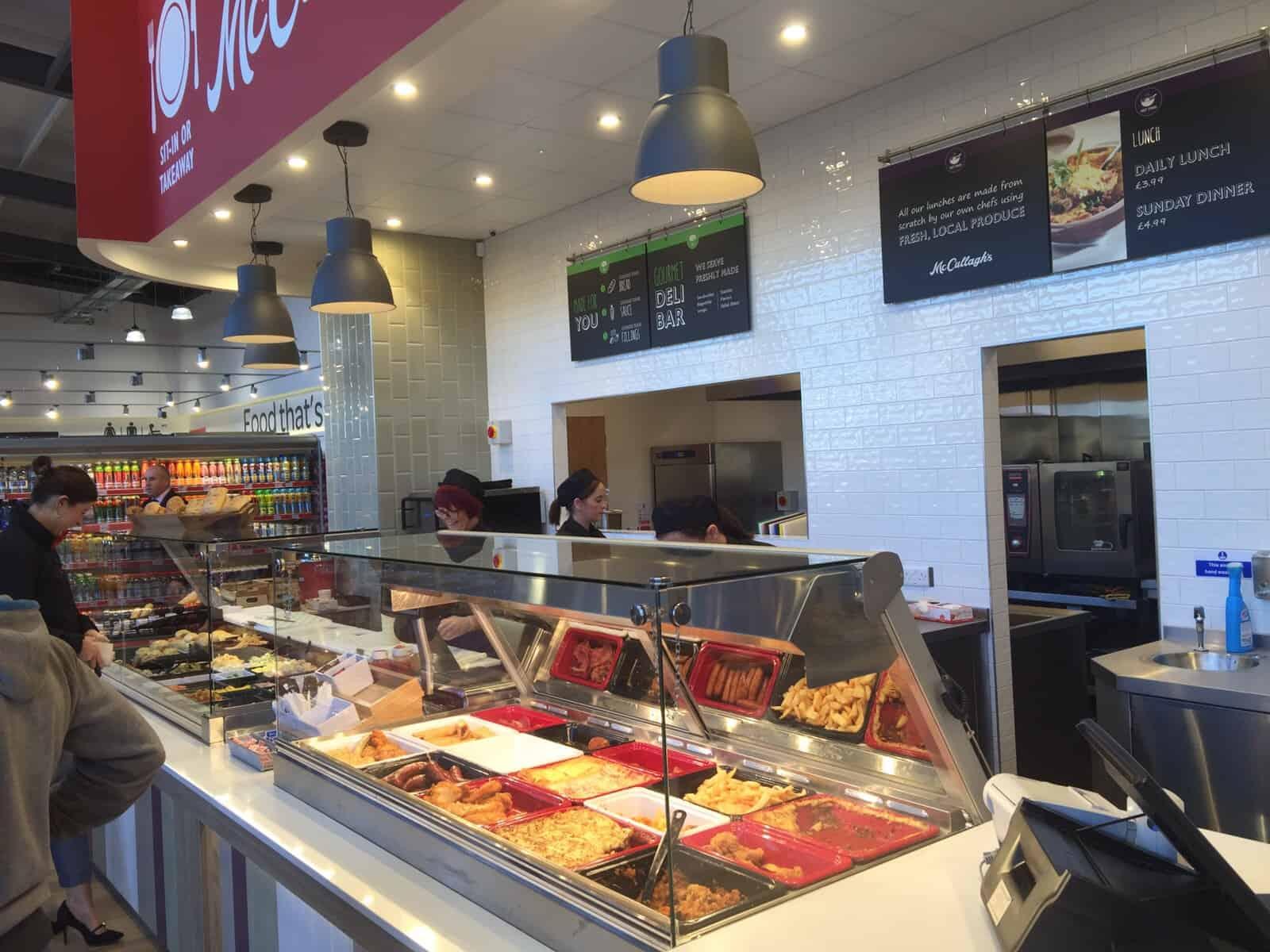 Restaurant Design Northern Ireland : Deli kitchen hot food displays martin equipment