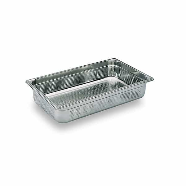 Martin Food Equipment 10641-3 1/1 x 100mm Stainless Steel Perforated Gastronorm