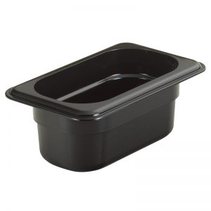 Martin Food Equipment 14437-1-300x300 Cambro 1/9th x 100mm Black Polycarbonate Food Pan