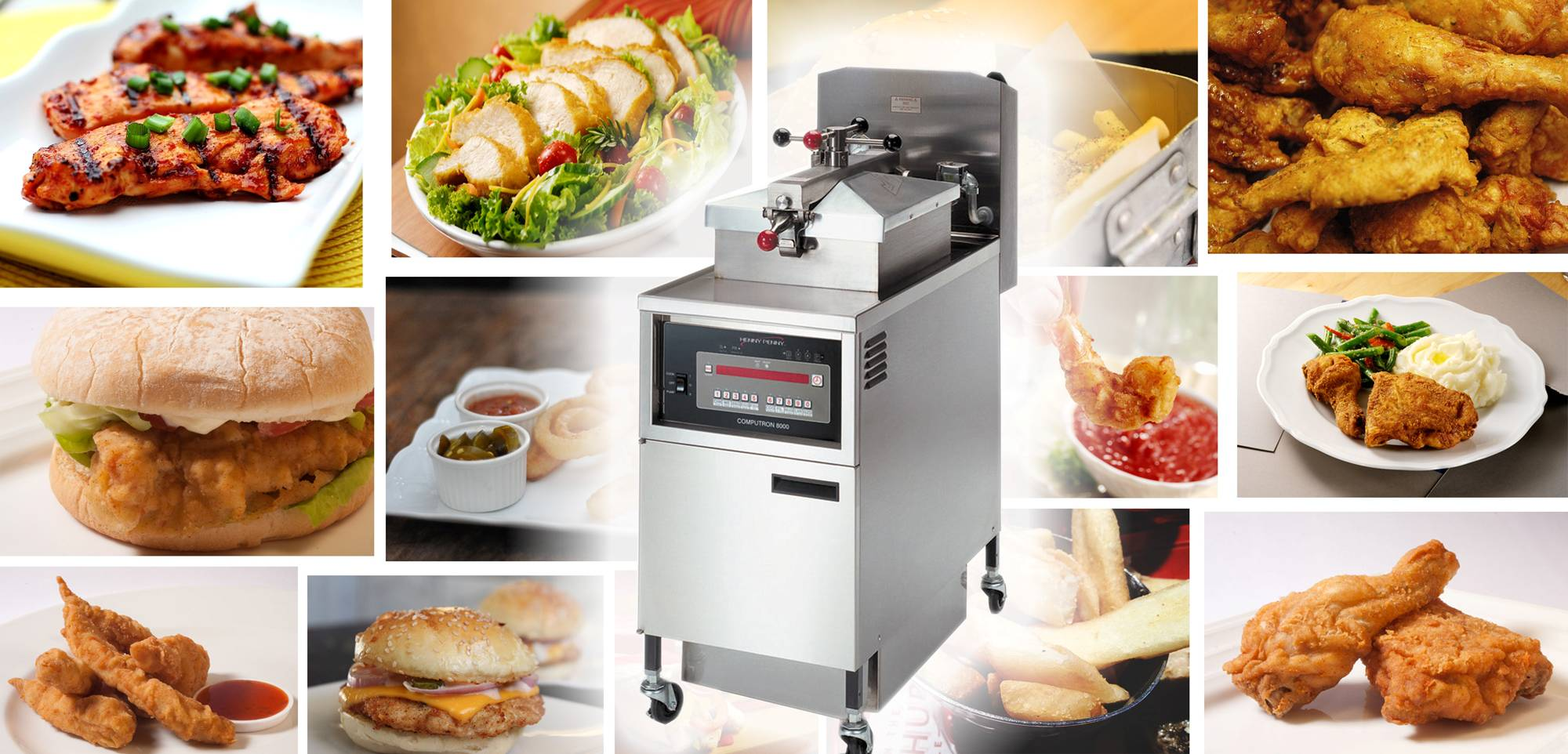 Martin Food Equipment Henny-Penny-pressure-fryer-collage Henny Penny Southern Style Chicken Live Demo Events