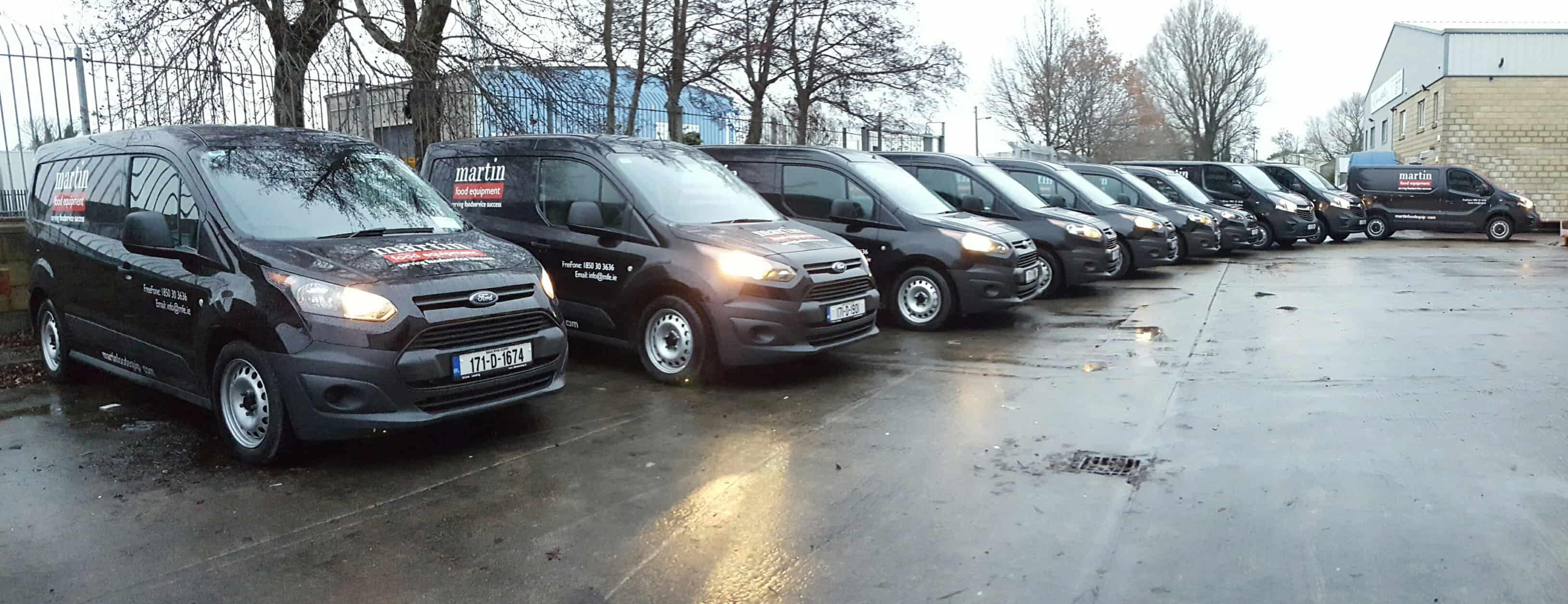 Martin Food Equipment Vans-Resized New Fleet of MFE Vans for 2017 News