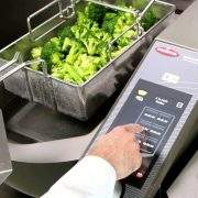 Broccoli being cooked in the Frmia VarioCooking Centre