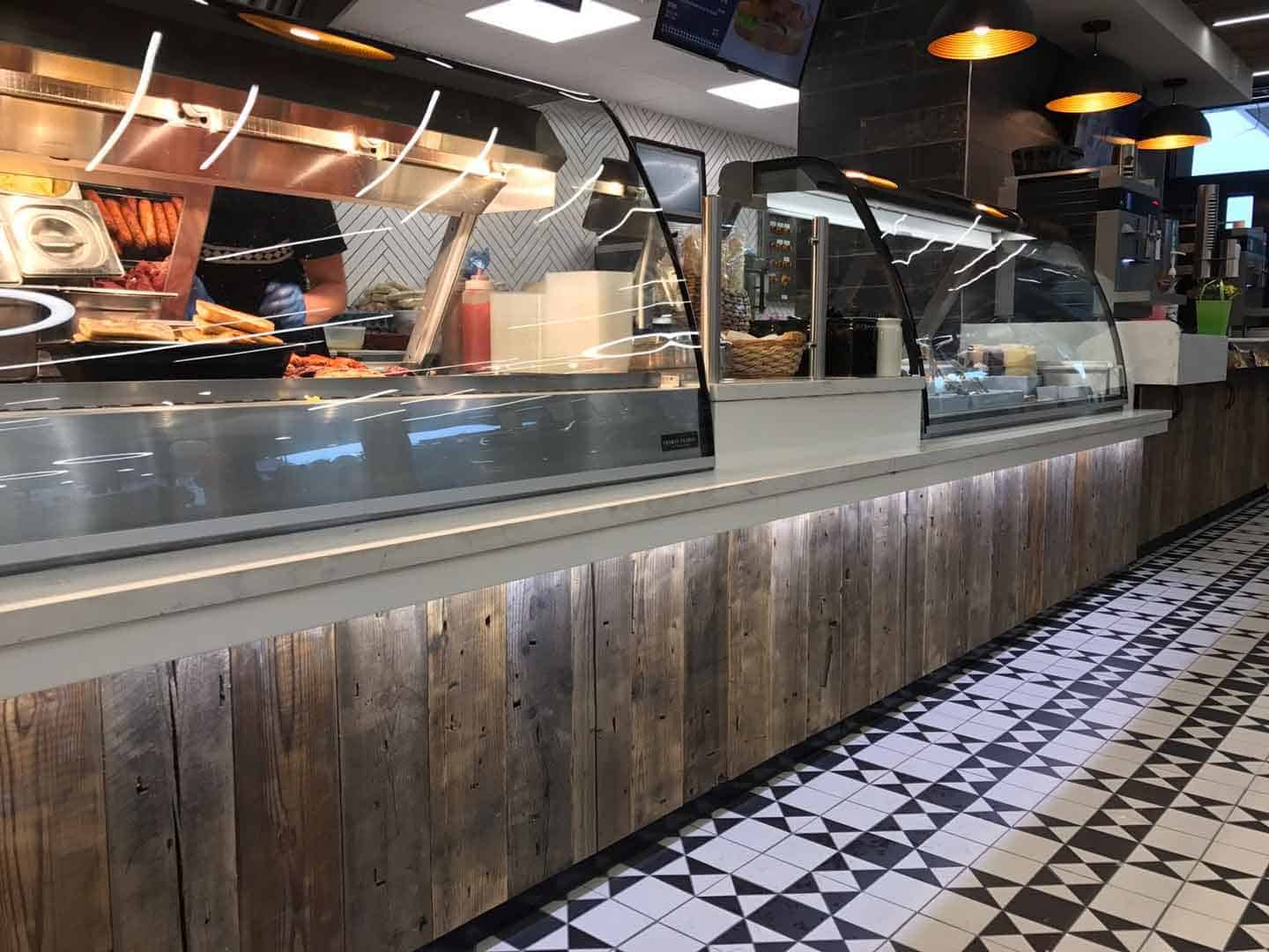 Martin Food Equipment Cladding-on-Counters-at-Creightons-Finaghy Creightons of Finaghy, Belfast Installations