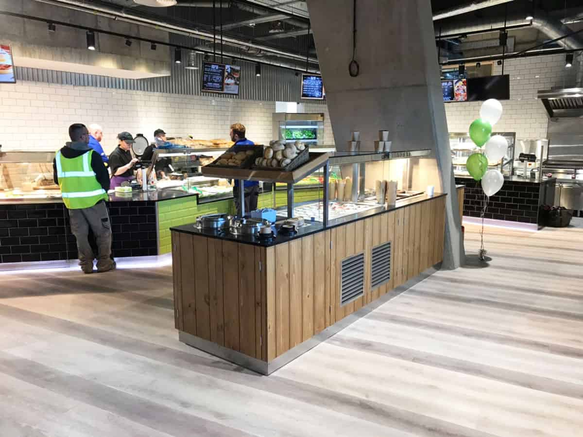 Island unit and deli counters by martin food equipment in spar titanic quarter