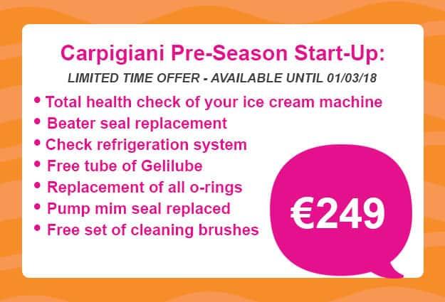Martin Food Equipment Pre-Season-3-1 Carpigiani Pre-Season Start Up Package 2018