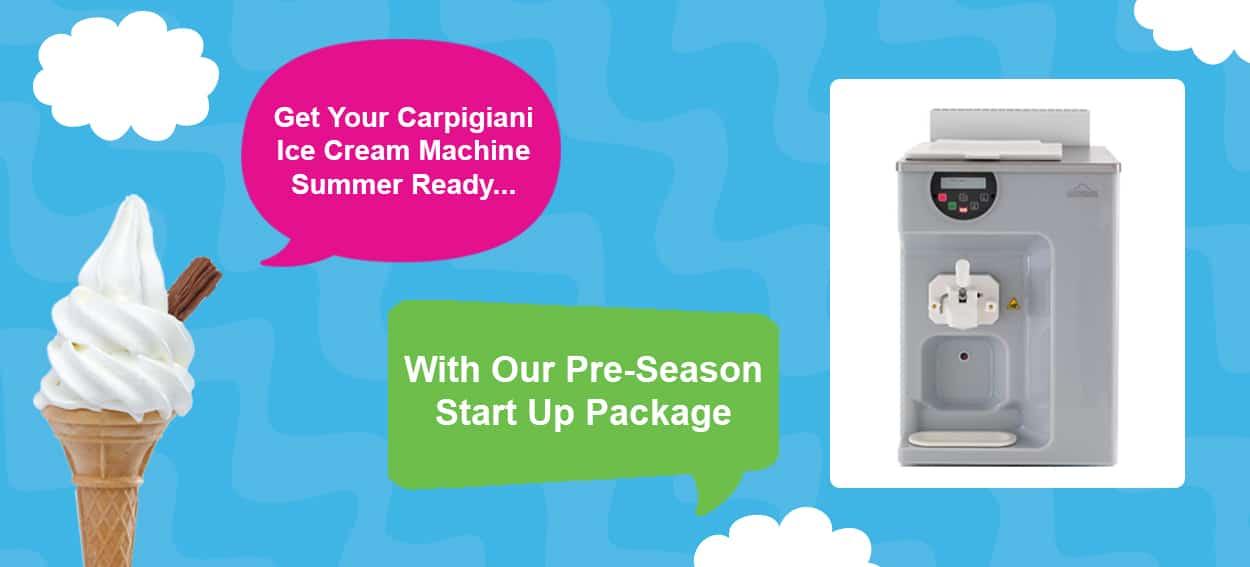 Martin Food Equipment Pre-Season Carpigiani Pre-Season Start Up Package 2018