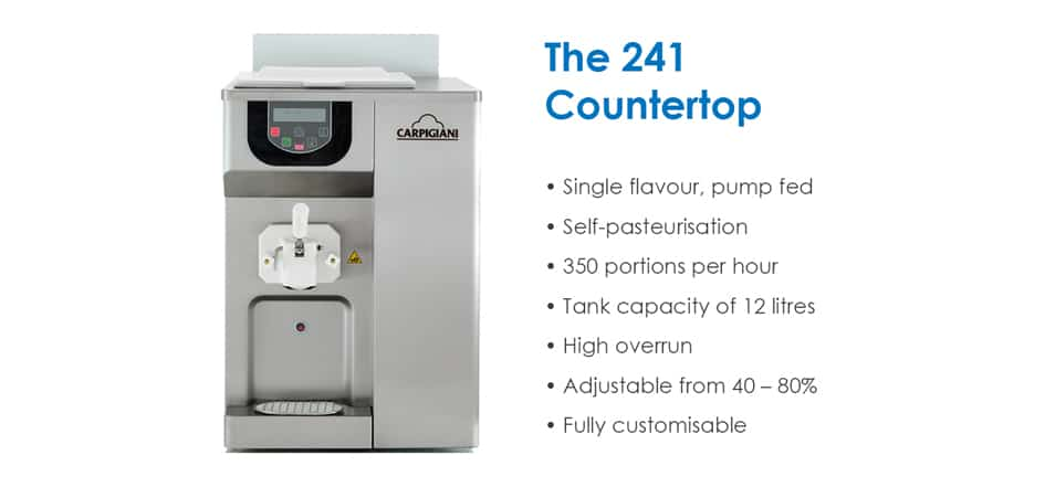 Martin Food Equipment Carpgiani-241-Countertop-Soft-Ice-cream-Machine Carpigiani Ice Cream Machine Trade-In