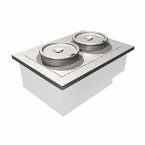 Counterline two well heated soup unit