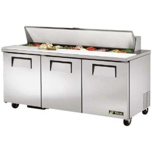 Refrigerated Pizza Prep Table True TSSU 72 18