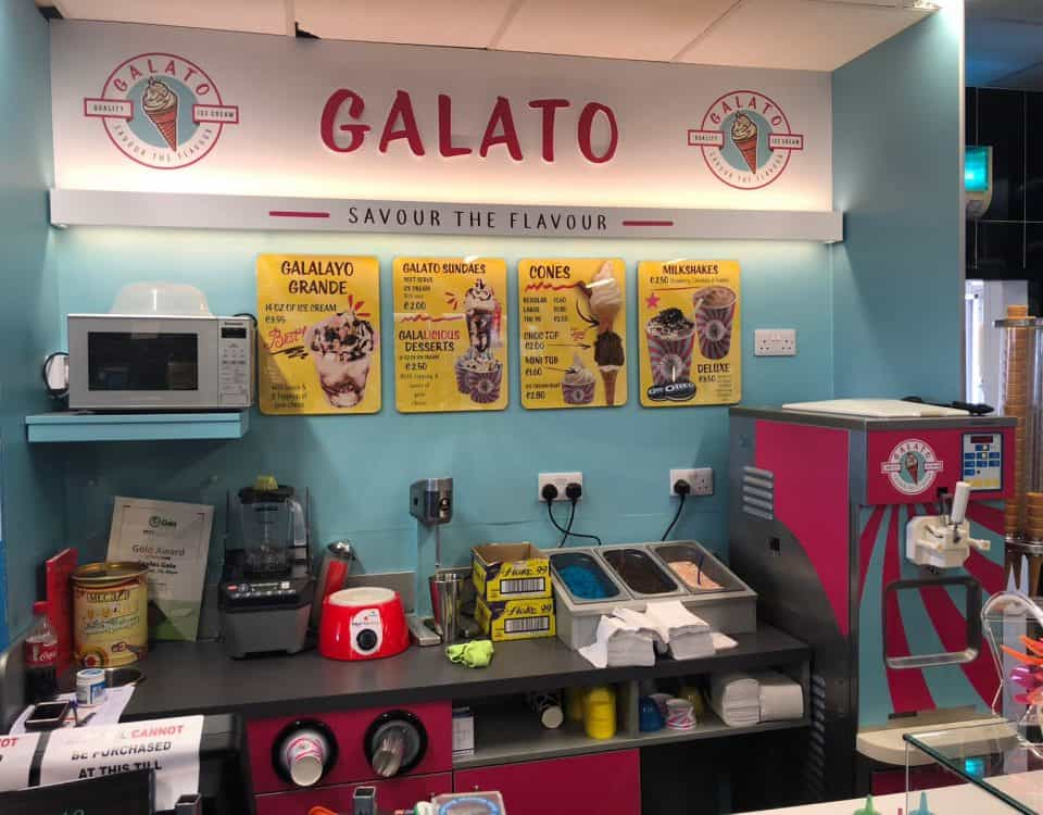 Martin Food Equipment Galato-Ice-Cream-Station-Back-Counter-1-960x750 Galato Ice Cream Station, Gala, Belmullet, Mayo Installations