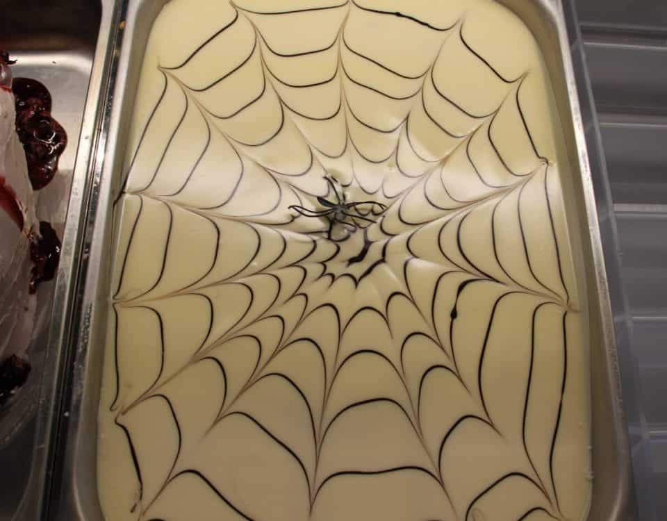 Spider Web Halloween Ice Cream