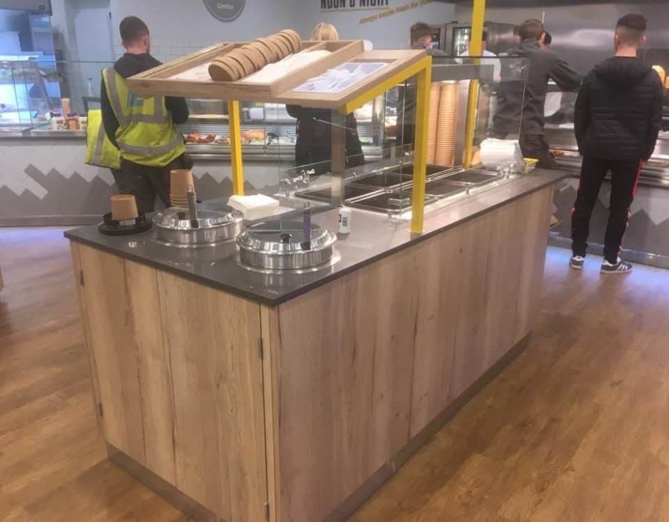 Self Serve Island Unit With Soup Kettles