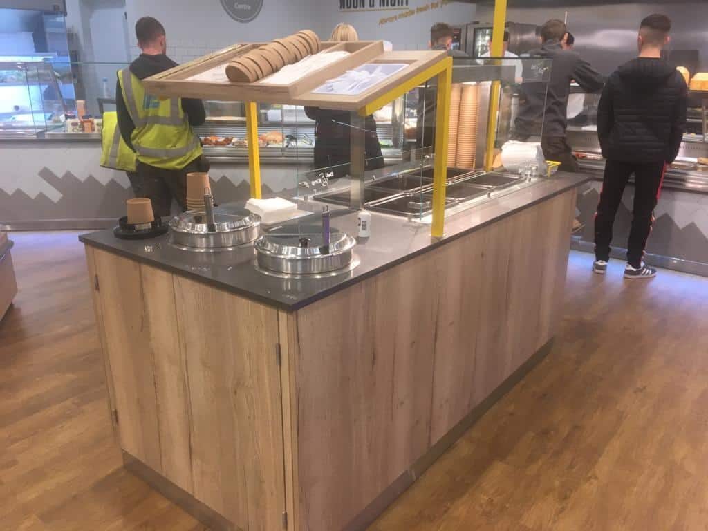 Martin Food Equipment Self-Serve-Island-Unit-With-Soup-Kettles Lilley's Centra, Enniskillen, Fermanagh Installations