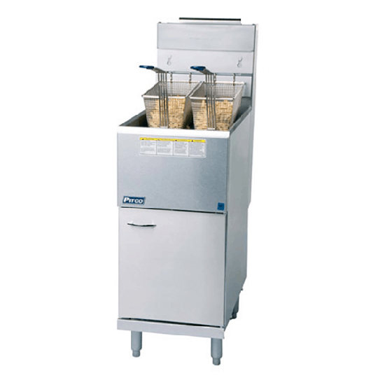 Martin Food Equipment Image_191121 Pitco CE-35C/S NAT GasFree Standing Fryer